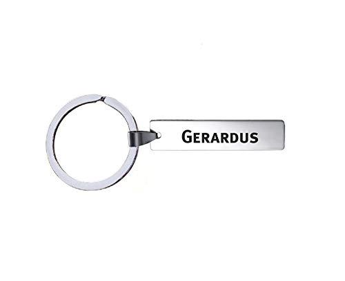 Sleutelhanger Met Naam - Gerardus - RVS