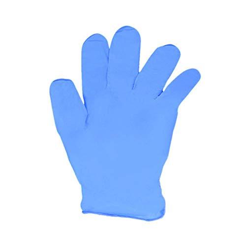 20pcs / lot Einweg-Latexhandschuhe Universal-Reinigungshandschuhe Multifunktionale Startseite Lebensmittel Medizinische Kosmetik Einweghandschuhe, blau, XL