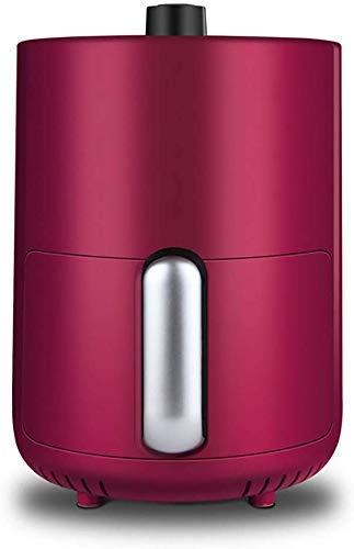 Panier à frire à la température de 1,5 litre de greer d'air électrique avec contrôle de la température, panier anti-bâton, avec poignée anti-brûlure Xping (Color : Deepred)