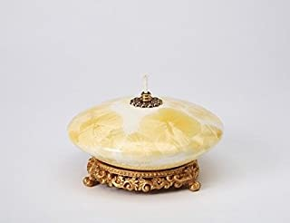 Cosmos 61674 Fine Porcelain Oil Lamp, 1-3/4-Inch, Yellow