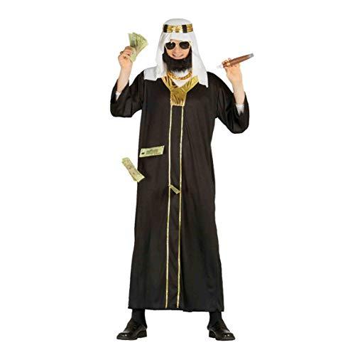 Öl Scheich Araber Karneval Motto Millionär Party Kostüm für Herren Wüste Orient Gr. M-XL, Größe:XL
