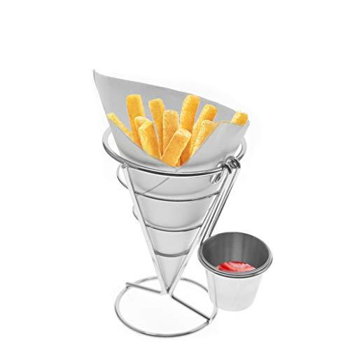 Supporto per friggere, in acciaio inox, per patatine fritte,...