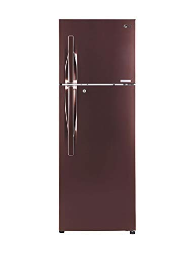 LG 360 L 3 Star Inverter linear Frost-Free Double-Door Refrigerator (GL-T402JASN, Amber Steel, Convertible)