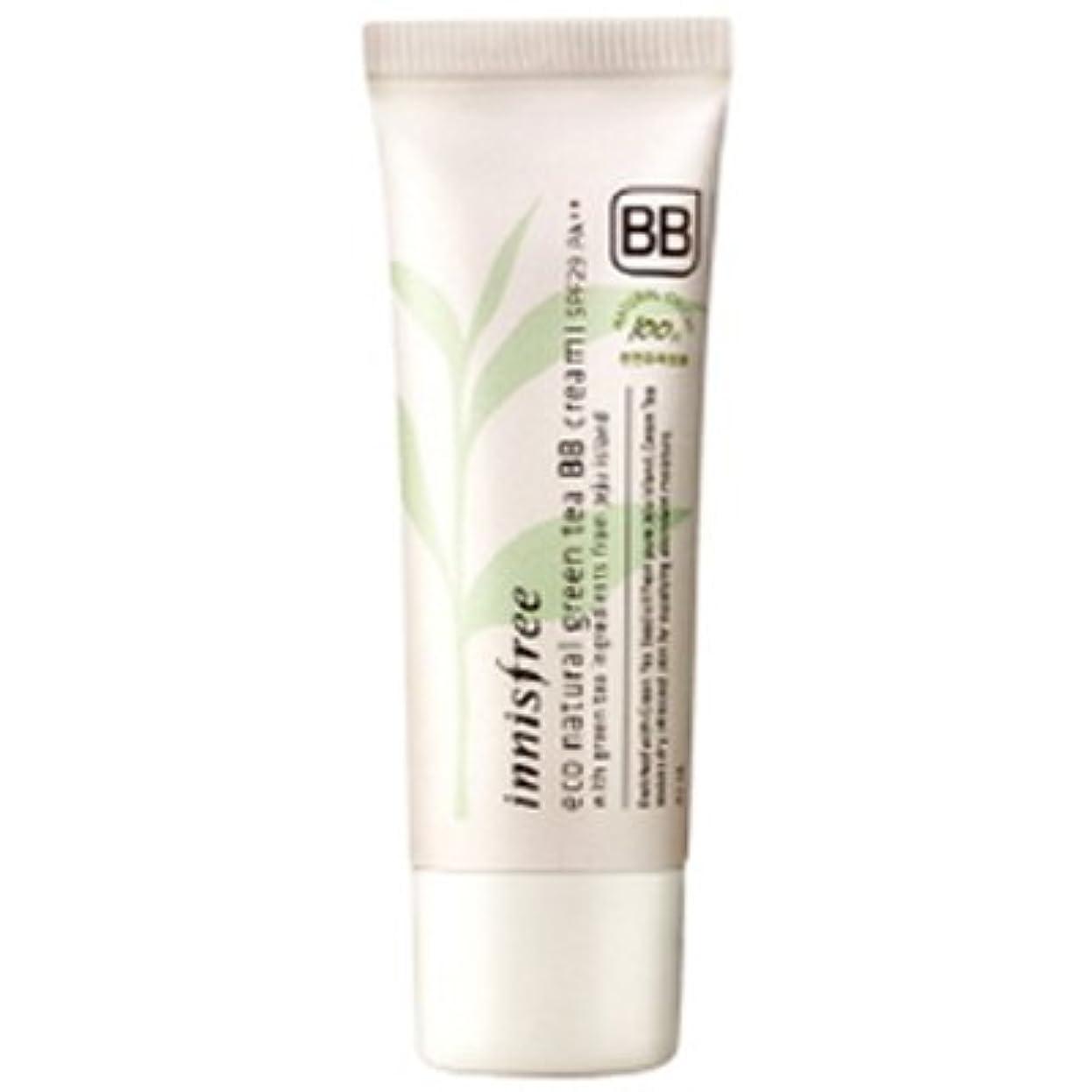 激怒乗り出す著名なinnisfree(イニスフリー) Eco natural green tea BB cream エコ ナチュラル グリーン ティー BB クリーム SPF29/PA++ 40ml #1:ライトベージュ