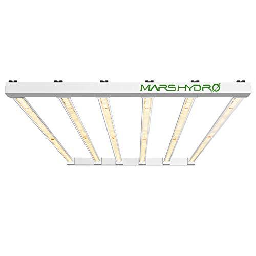 MARS HYDRO FC-E4800 LED Grow Light 4x4ft 2646pcs SMD Osram LEDs Plant Grow Light UV IR Full Spectrum Growing Light Plants Grow Lamp Dimmable Commercial Grow Lights Daisy Chain Detachable 2.7 umol/J