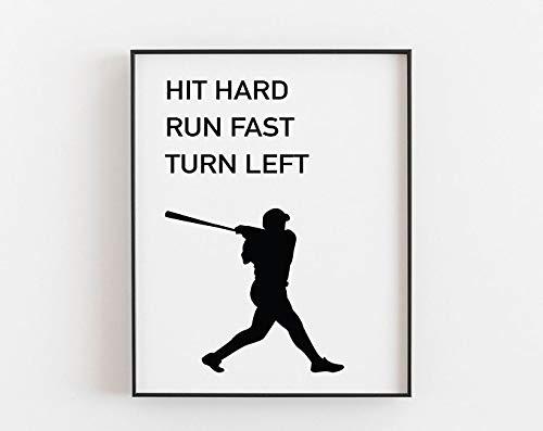 Baseball Gifts, Baseball Poster, Baseball Printable, Baseball Wall Art, Baseball Birthday Party, Baseball Decorations, Baseball Coach Gift | Poster No Frame Board For Office Decor, Best Gift For Famil