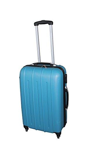 Pure - Hartschalen-Koffer Colorful 58 x 38 x 22 cm - Trolley mit 4 Rollen und Zahlenschloss - Reisekoffer in Handgepäck-Größe - 36 Liter - Türkis