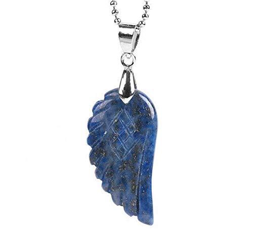 """Collier et Pendentif""""Aile d'Ange"""" en Lapis Lazuli, CONFIANCE EN SOI"""
