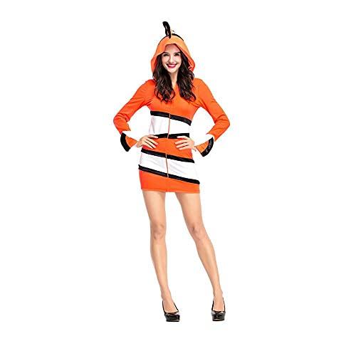 Uteruik Disfraz de payaso para cosplay de Halloween, fiesta de Navidad, para mujer (XL)