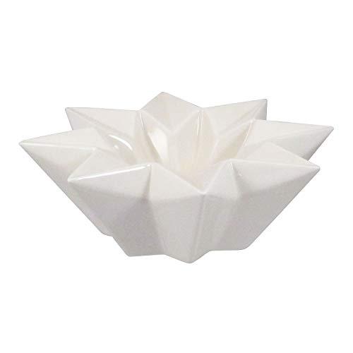 Fuchs seit 1895 Keramik Teelicht Origami Teelichthalter sternförmig in weiß 11,5 cm