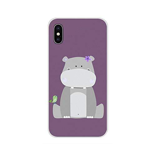 Para Samsung Galaxy S2 S3 S4 S5 Mini S6 S7 Edge S8 S9 S10E Lite Plus Accesorios Carcasa del teléfono Cubiertas lindo animal dibujos animados hippo-imágenes 4-Para Galaxy S10 Lite