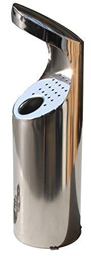 Cenicero en acero inoxidable para tubo redondo o pared