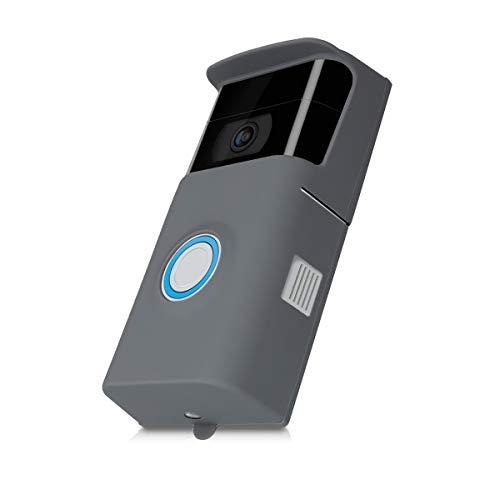 kwmobile Ring Video Doorbell 2 (2. Gen) Funda Protectora para videoportero de Silicona Compatible con Ring Video Doorbell 2 (2. Gen) - Gris