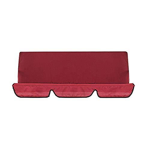 Schaukelstuhl Sitzbezug Regendicht Anti-UV Staubschutz Protector Swing Canopy Top Cover für Terrasse Outdoor Swing Stuhl artenterrasse Outdoor-Sitzer Swing Chair 150 x 50 X 10CM (Rot)