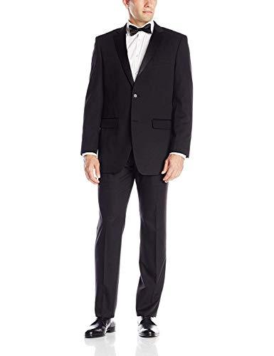 Perry Ellis Black Stretch Slim Fit Tuxedo