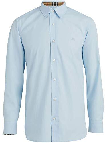 BURBERRY Luxury Fashion Herren 8003072 Hellblau Baumwolle Hemd | Jahreszeit Permanent