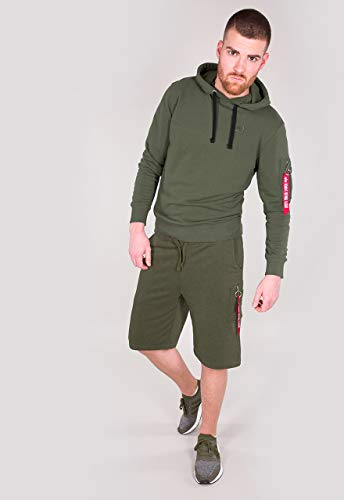 Alpha Industries Herren Shorts X-Fit grün L