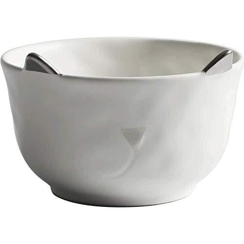 YNHNI Soup Bowl Tazón de cerámica Set de Cubiertos Placa Placa Placa Western Steak Ensaladera Microondas arroz Bowl Ensaladera Placa de Postre Plato vajilla de Estilo Europeo (Color : Plate1)