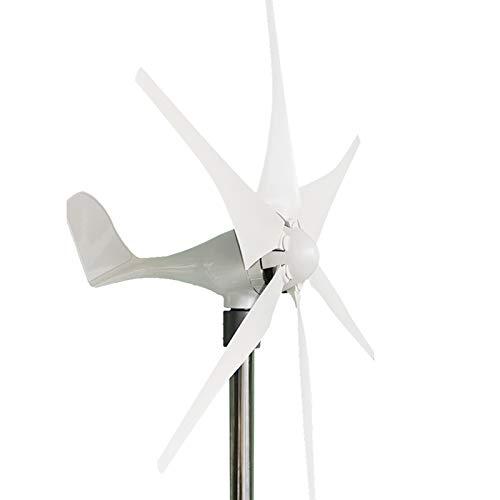 Turbinas de energía de Molino de Viento Carga a turbina eólica, 6000W 12V / 24V 6 Blades Opción Generador de turbinas eólicas Potente,24v