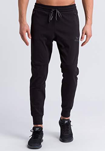 ERIMA Erwachsene Essential Sweathose mit seitlichen Reißverschlusstaschen, schwarz, S