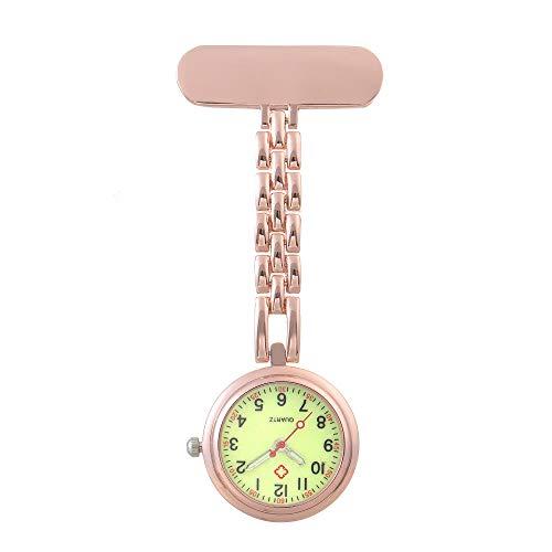 nohbi Reloj Tipo Enfermera Cuarzo,Reloj de Bolsillo médico de Enfermera Colgante, Lindo Cofre de Examen Impermeable de Moda-Noche D_M,Reloj de Bolsillo de Cuarzo a Prueba de Agua