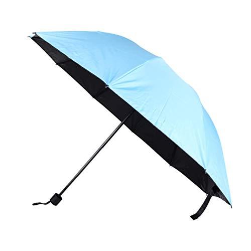ZHANGYY Umbrella Automatic Solid Wood Handle Umbrella Ten Bone Windproof Umbrella Three Fold Sunny Rain Folding Umbrella Male High-End
