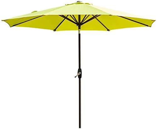 SHANCL Garden Parasol 2.7M sombrillas Jardín Patio al Aire Libre Paraguas UV70 +, y la inclinación del cigüeñal, Parasol for el Exterior del Mercado Terraza Cubierta Yard (Color : FruiGreen)