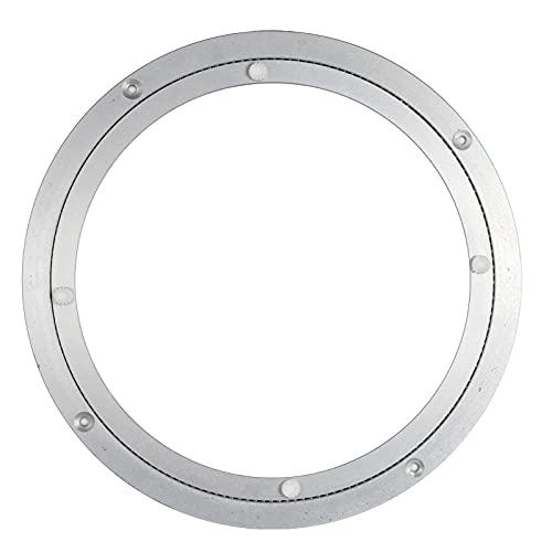 TTAO Soporte giratorio de aluminio Lazy Susan Ronda Rolling Display Rack Base de Cocina Mesa de Comedor Placa Giratoria Suave para Mesa de Mesa de Plata 25 cm