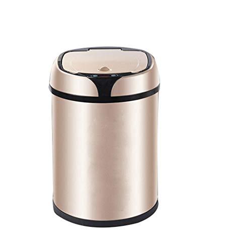 Xiaoli Cubo de Basura Bote de Basura Inteligente Dormitorio Cocina Sala de Estar Bote de Basura automático 8L Papeleras