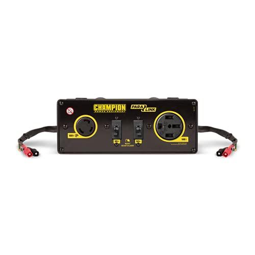 Champion Power Equipment 100319 ParaLINK Parallelanlage, 50 A, schwarz/gelb, 11 x 4,3 x 5,1 inches