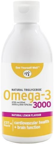 Omega 3 SYW. (237 ml. sabor limón) Certificado IFOS. Forma Triglicérido. Altamente...