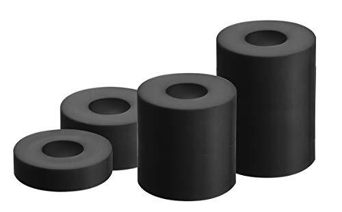 GAH-Alberts 338725 Distanzhülse | Kunststoff | Kunststoff, schwarz | 20 Stück mit 4 Größen | 20 x 5 mm / 20 x 10 mm / 20 x 20 mm / 20 x 30 mm