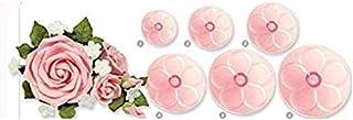 S.Han Plastic 6 Pcs Rose Cutter Fondant Mould Cutter Sugarcraft Cake Decorating Tools