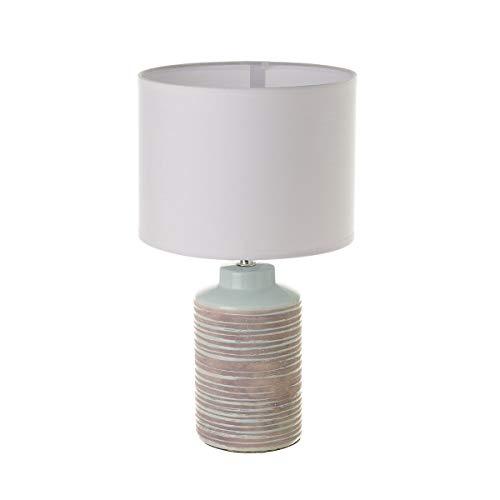 Lámpara de sobremesa de cerámica azul rústica para la entrada Bretaña - LOLAhome