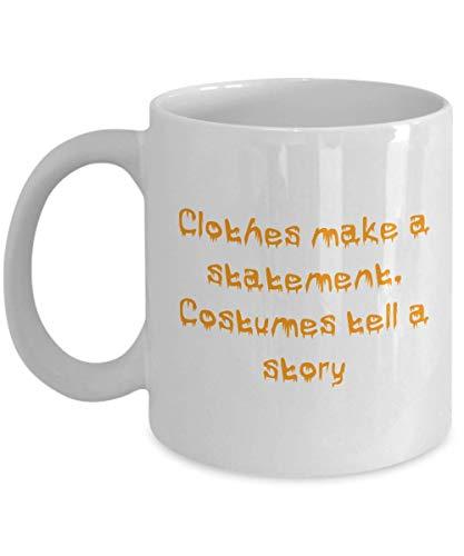 N\A Taza de caf Casa de Halloween Fantasma Calabaza Espeluznante Disfraz de Bruja Regalo embrujado Diseo de Bricolaje Boo Scary
