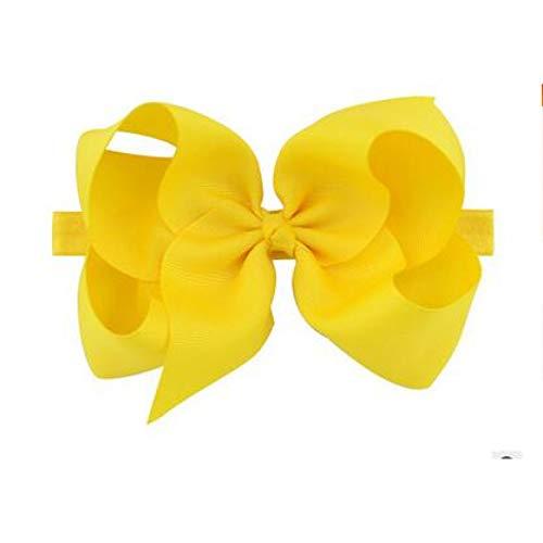 TOUSHI Haar Zubehör 6 Zoll Große Haarschleife Boutique Solid Hairgrips Ripsband Bögen Mit Stirnband Haarspange Bowknot Für Mädchen Zubehör