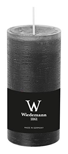 Wiedemann Marble Kerze durchgefärbt ASF, Wachs, Grau, 12 x 5.8 cm, 8-Einheiten