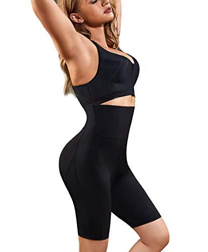 Gotoly Women Shapewear Cool Comfort Hi-Waist Thigh Slimmer (Black, Small)