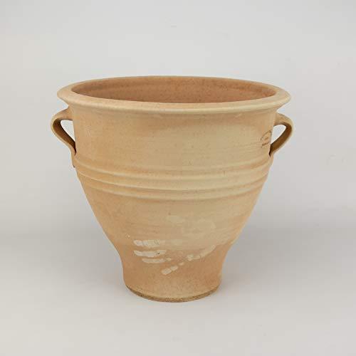 Céramique de Crète | jardinière en terre cuite de haute qualité | 35 cm | Fabriqué à la main antigel produit de qualité absolue pour votre balcon terrasse jardin, type: rose