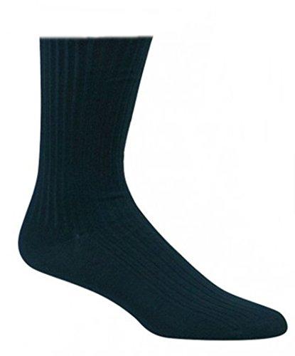 10 Paar Kellner Socken, Berufssocken 100prozent Baumwolle Schwarz für Damen & Herren CH-137 (43-46)