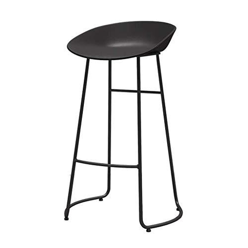 Tabouret de bar DBL Chaise de Bar Tabouret Chaise Haute gastronomie Petit déjeuner Tabouret Confort Siège Cuisine Comptoir de Petit déjeuner (Color : Black, Size : 65CM)