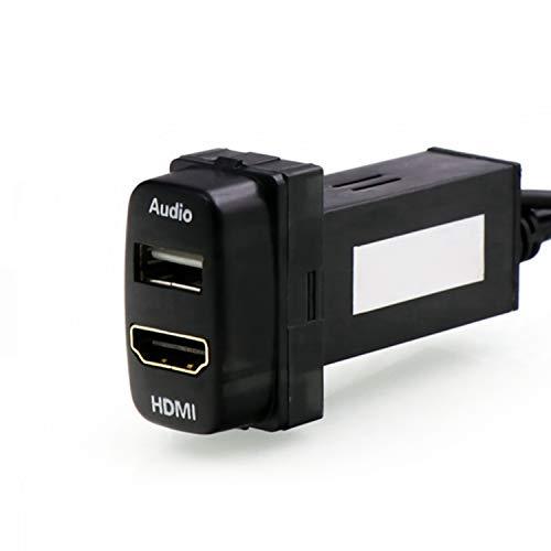 USB入力ポート&HDMI入力ポート オーディオパーツ スイッチホールパネル Mitsubishi 三菱車系用