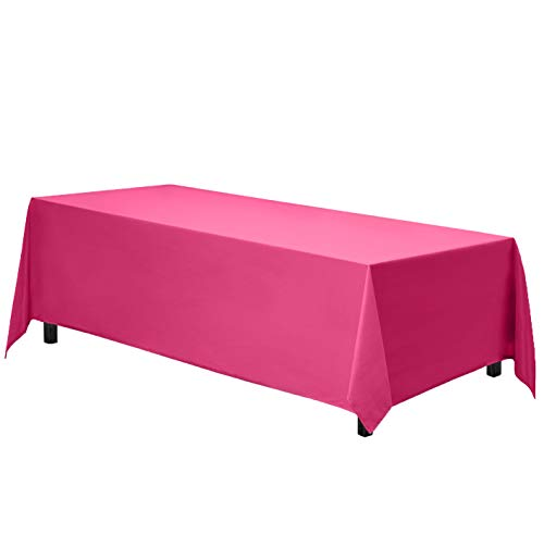 hot pink table cover - 1