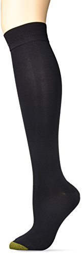 Gold Toe Women's Little Black Sock Sparkle Knee Highs, 2 Pairs, Shoe Size: 6-9