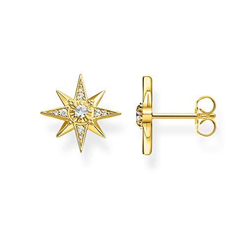 Thomas Sabo Damen-Ohrstecker Stern gold 925 Sterlingsilber gelbgold vergoldet H2081-414-14