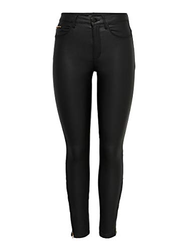 ONLY Female Skinny Fit Jeans ONLRoyal HW Coated Ankle Zip L32Black
