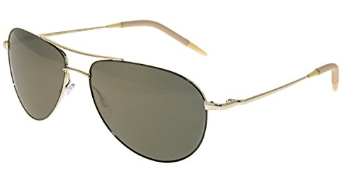 OLIVER PEOPLES BENEDICT OV1002S 5035O9 Gold-Grey/Green Polarized Glass 59mm NEW
