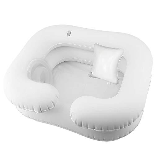 SYCOTEK Champú Hinchable para Lavabo Baño Ayuda a Lavar el Cabello con la Almohada para la Cabeza