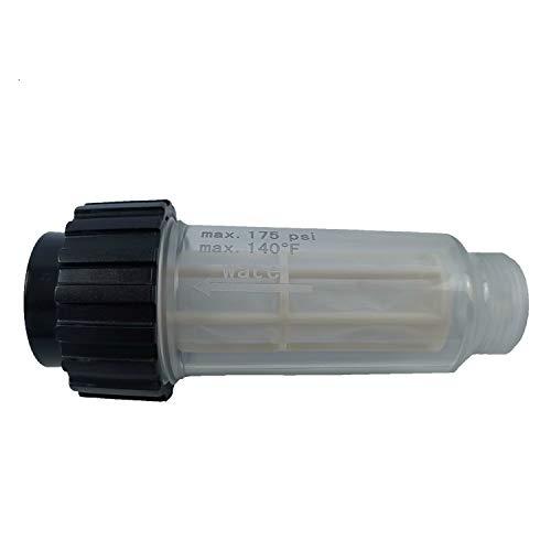 1x Filtro de Agua Que Incluye Inserto de Filtro (5.731-050.0) para Todas Las lavadoras a presión Karcher con conexión de Agua de 3/4 de Pulgada como Karcher K2-K7 Compatible con 4.730-059.0