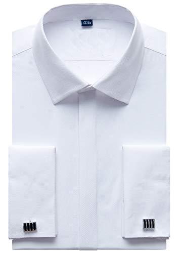 Hombre Camisas Manga Larga Regular Fit Básica Entallada Casual Transpirable (Incluir Gemelos y Ballenas para Camisas)